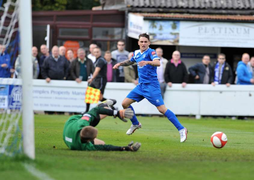 BACK HOME: Sam Reed has committed his immediate future to Bury Town as he looks to put an injury-hit season behind him to fire the Blues back up to the Ryman League Premier Division
