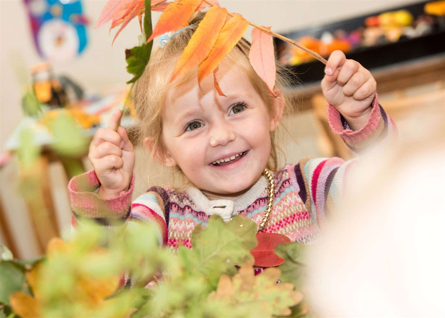 SUDBURY.Playbox pre-school, St John's Church Community Centre, York Rd, Sudbury.Children at Playbox pre-school making autumn-themed collages. Picture by Mark Westley. (18275377)