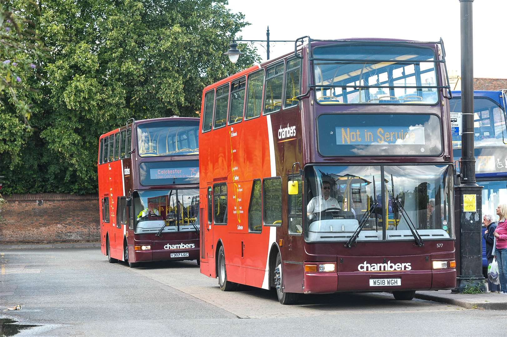 Two Chambers buses wait for passengers at Sudbury bus station. (7852291)