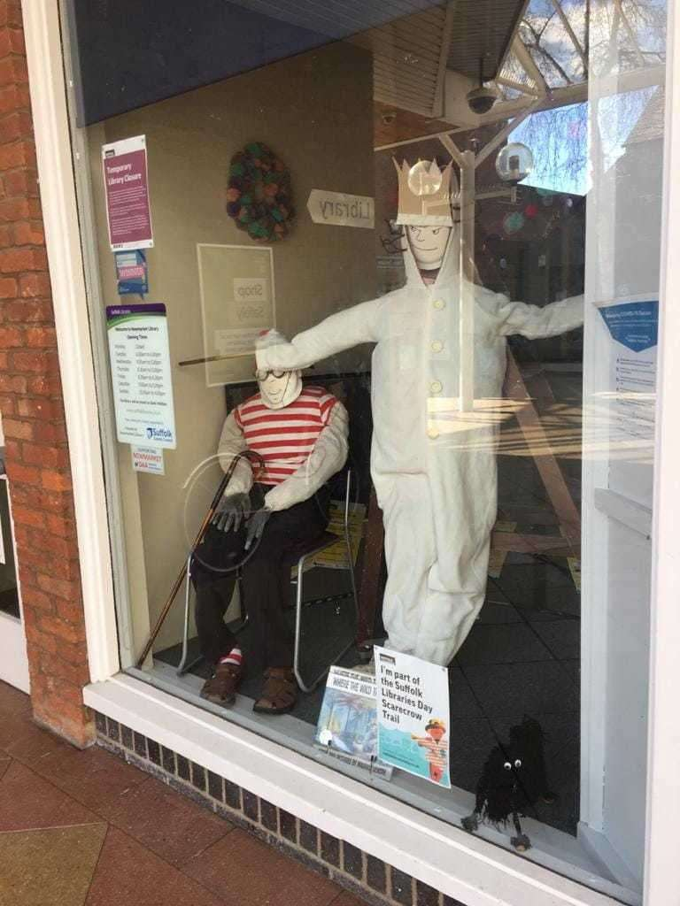Anyone passing Newmarket Library can give a wave to Wally, Max and Hairy Maclary. Picture: Newmarket Library