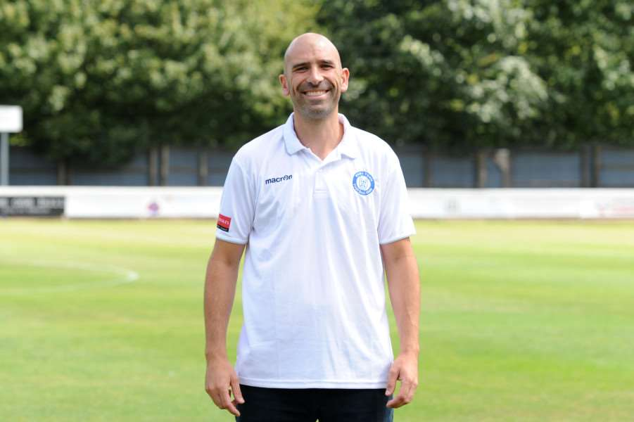 REASONS TO BE CHEERFUL: Bury boss Ben Chenery saw his team beat league-leading Maldon & Tiptree