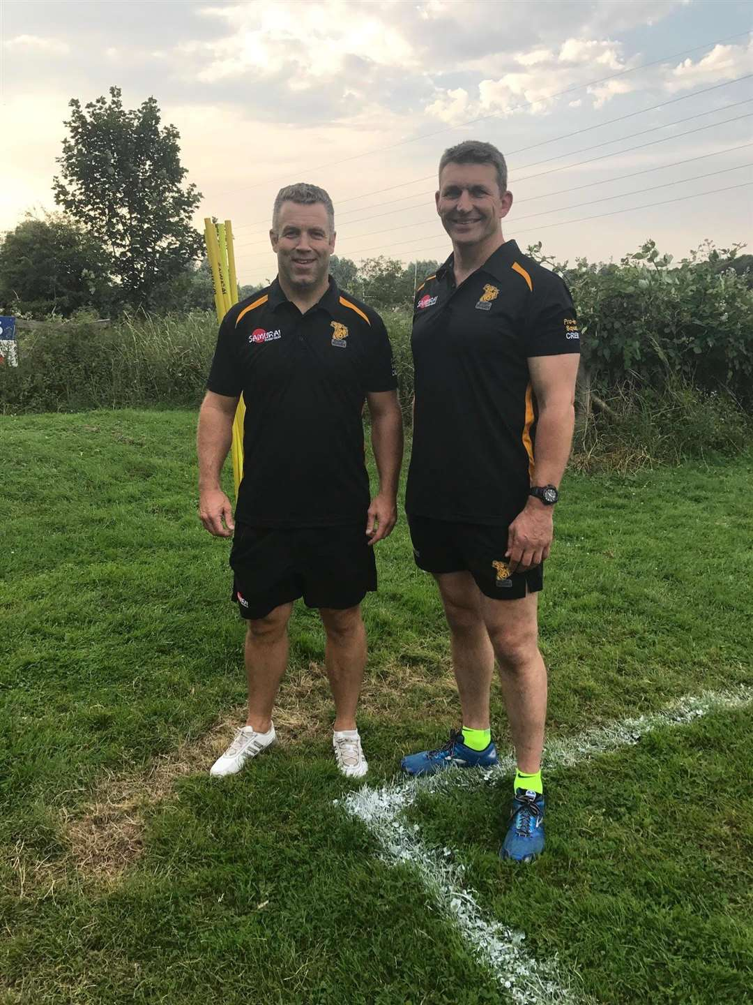 Kevin Maggs (Director of Rugby) and Howard Parr (Forwards set-piece coach) at Bury St Edmunds RUFC at pre-season training in July. (5186226)