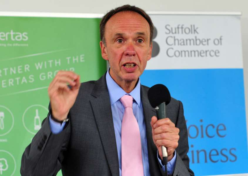 Richard Lister, vice chancellor of the University of Suffolk.