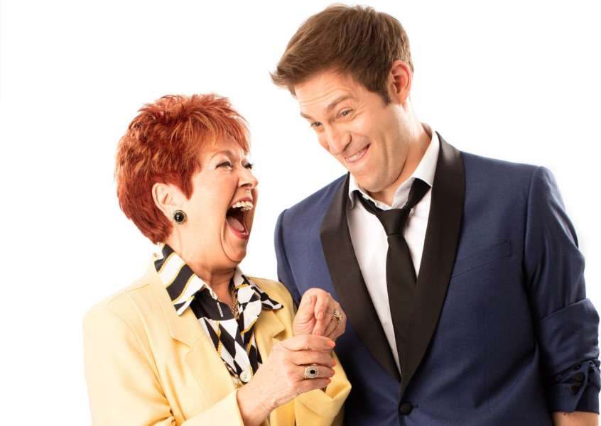 Ruth Madoc as Grandma Rosie and Jon Robyns as Robbie Hart in The Wedding Siinger. Picture: Darren Bell.