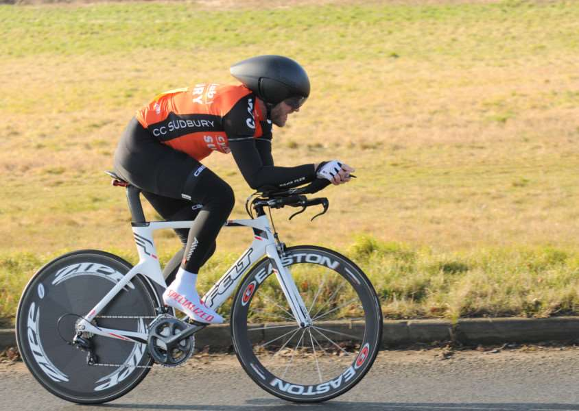 PERSONAL BEST: Sudbury rider Dave Crisp broke his personal best over 25 miles