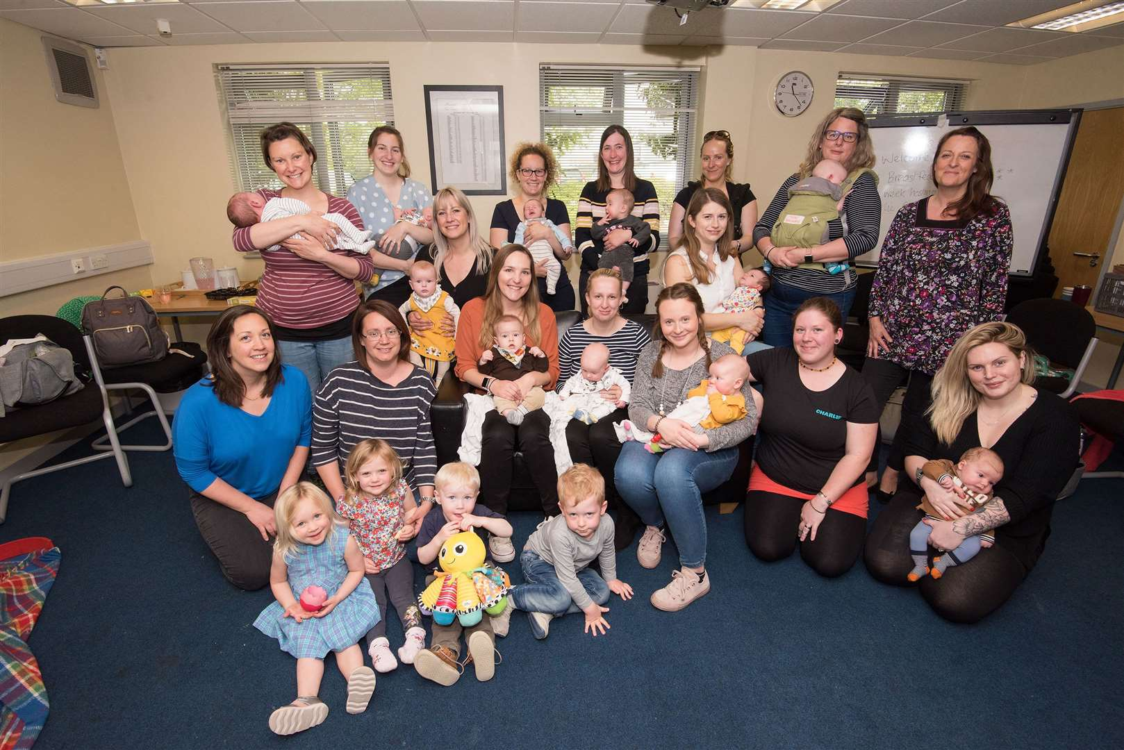 Haverhill Breastfeeding Group is about to celebrate its first year.Community room, Haverhill Fire Station, Lordscroft Lane.The group celebrates one year on May 8 since it started holding weekly meetings for mums. Picture by Mark Westley. (9473896)