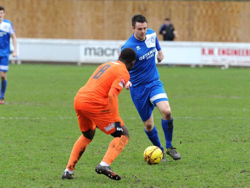 BALL CONTROL: Ollie Fenn permanently joins Bury Town from Needham Market for new season