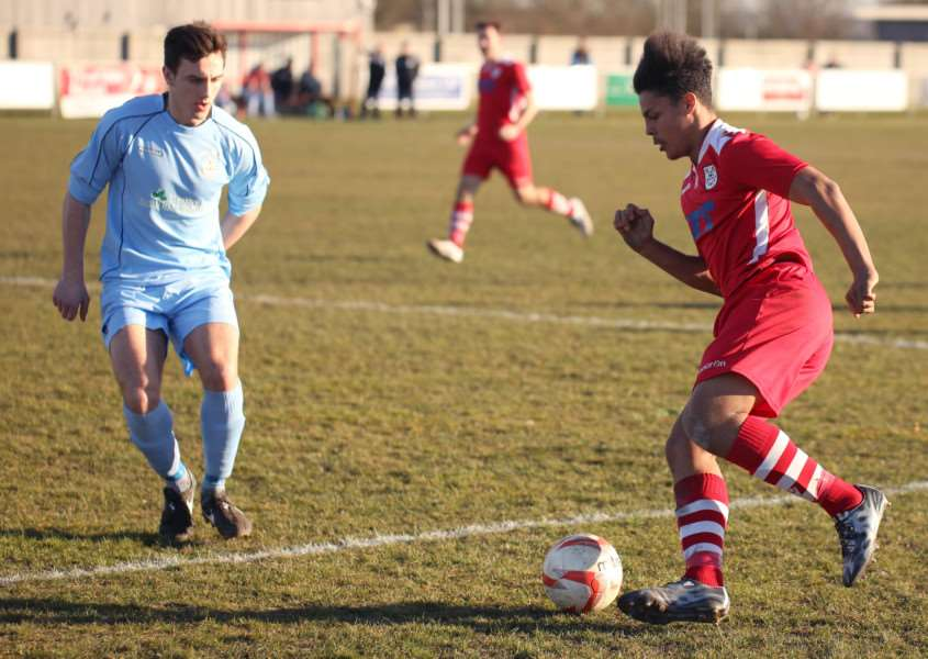 Ty Alleyne grabbed Haverhill Rovers goal in their 6-1 defeat at Stanway Rovers