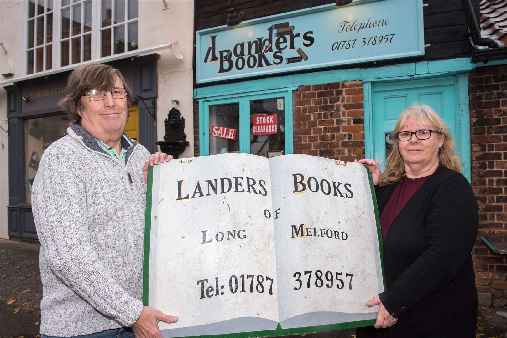 Landers Bookshop, Ringers Yard, Hall St, Long Melford Jan and Ian Rockett have been forced to close their book shop after a significant drop in trade. They took over the store six years a go but are unable to keep it running after a footfall in customers in the village. Picture by Mark Westley. (5525827)