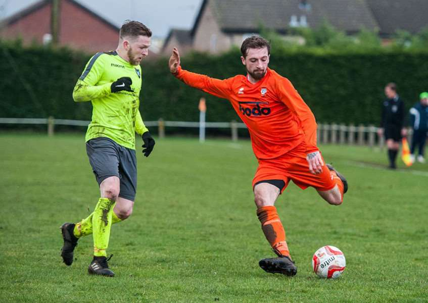 HOLDING OFF: Diss Town fell to a narrow 3-2 home defeat (Picture: Al Pulford)