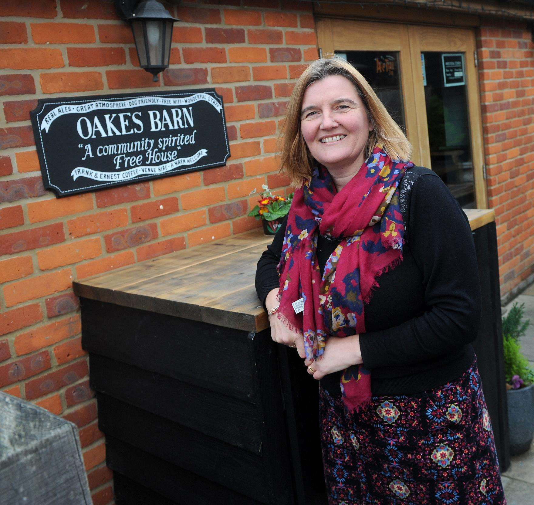 Heather Warren has been keen to cater for all interests at Oakes Barn, the pub she owns in St Andrew's Street South
