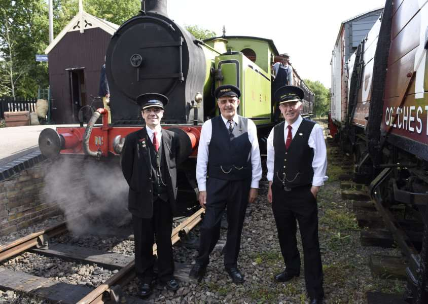 Guard Jason Kermeen, porter Mike Smith, fireman Zac Bond'' in the 1310, and station master John Stark