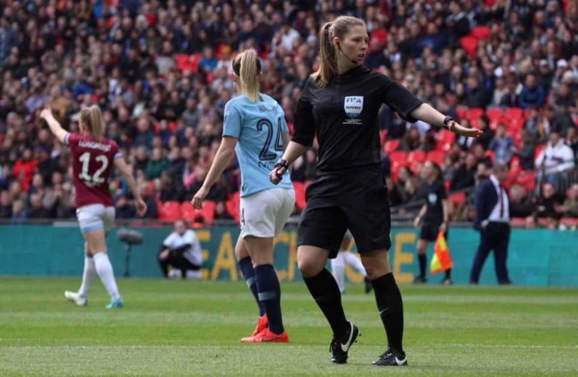 Abi Byrne refereeing Women's FA Cup final at Wembley (9871549)