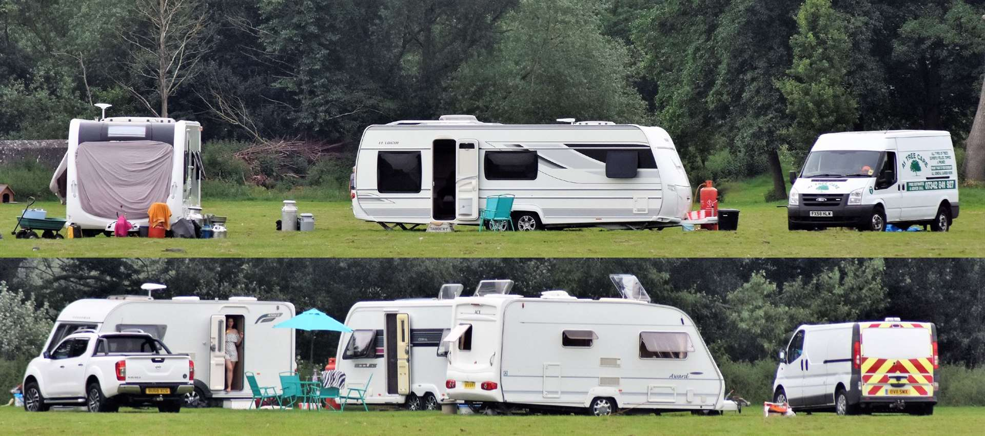 Travellers in Mildenhall, Monday 24 June (12893606)