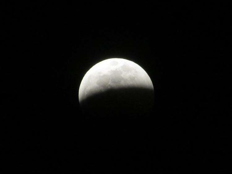 The partial lunar eclipse may appear grey tonight. Picture: O'Dea at Wikimedia Commons