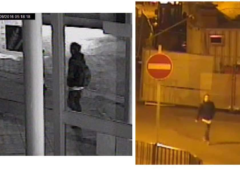 New image. right, of the man in CCTV Image 18, left, has been released by the Corrie McKeague search police