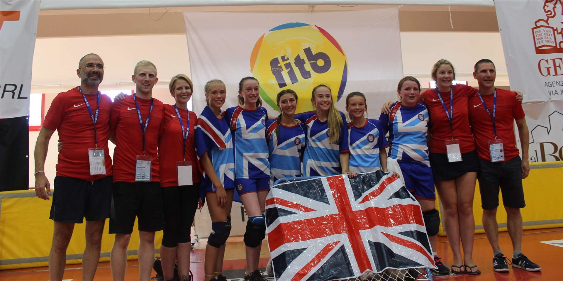EURO CHAMPS: The triumphant Great Britain Under-15 Girls team with their Bury coaches (3633369)