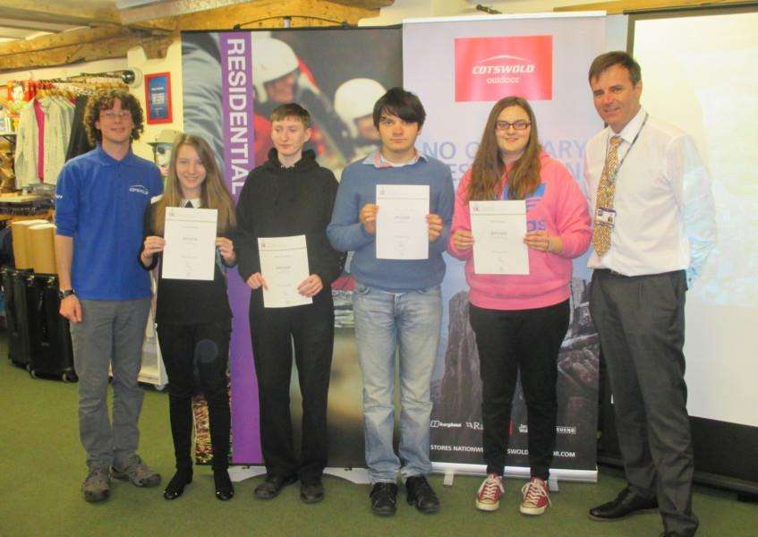 Fifteen students from Priory School received their Duke of Edinburgh Awards at a presentation evening hosted by Cotswold Outdoor, in Bury St Edmunds ANL-160504-102254001