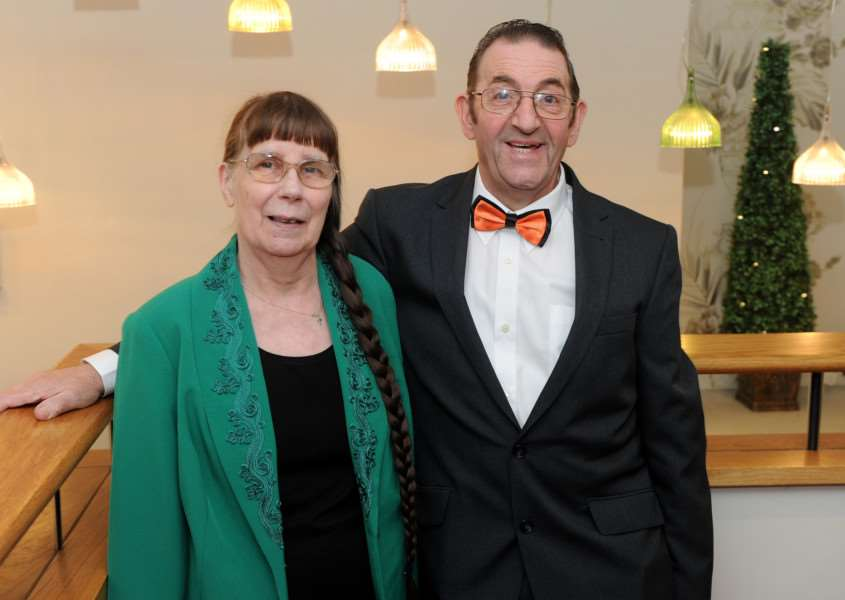 Pat Church celebrated 50 years at Abnegate Cinema''Pictured: Pat Church and his wife ANL-160317-103028009