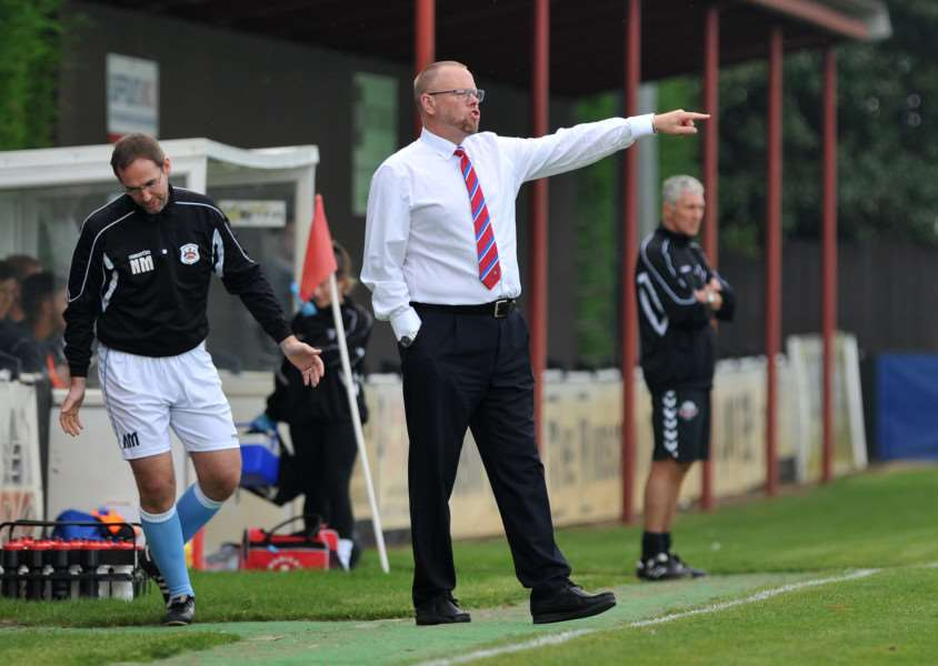 CENTRE OF A STORM: Needham Market manager Mark Morsley refused to comment in the Free Press' story but then wrote a long blog hosted by the club's official website. We are unable to reproduce this for legal reasons.
