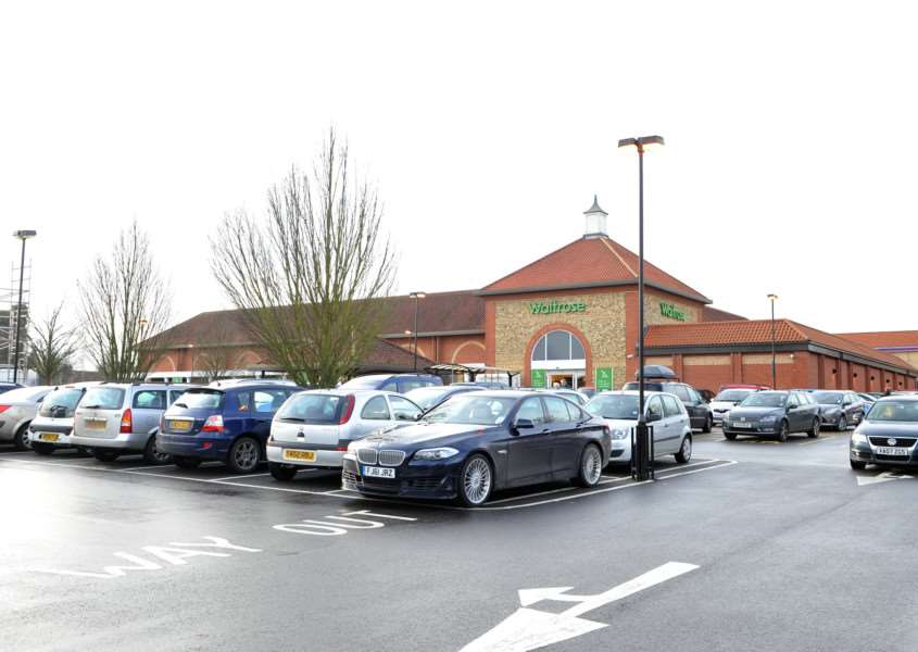 Waitrose car park, in Bury
