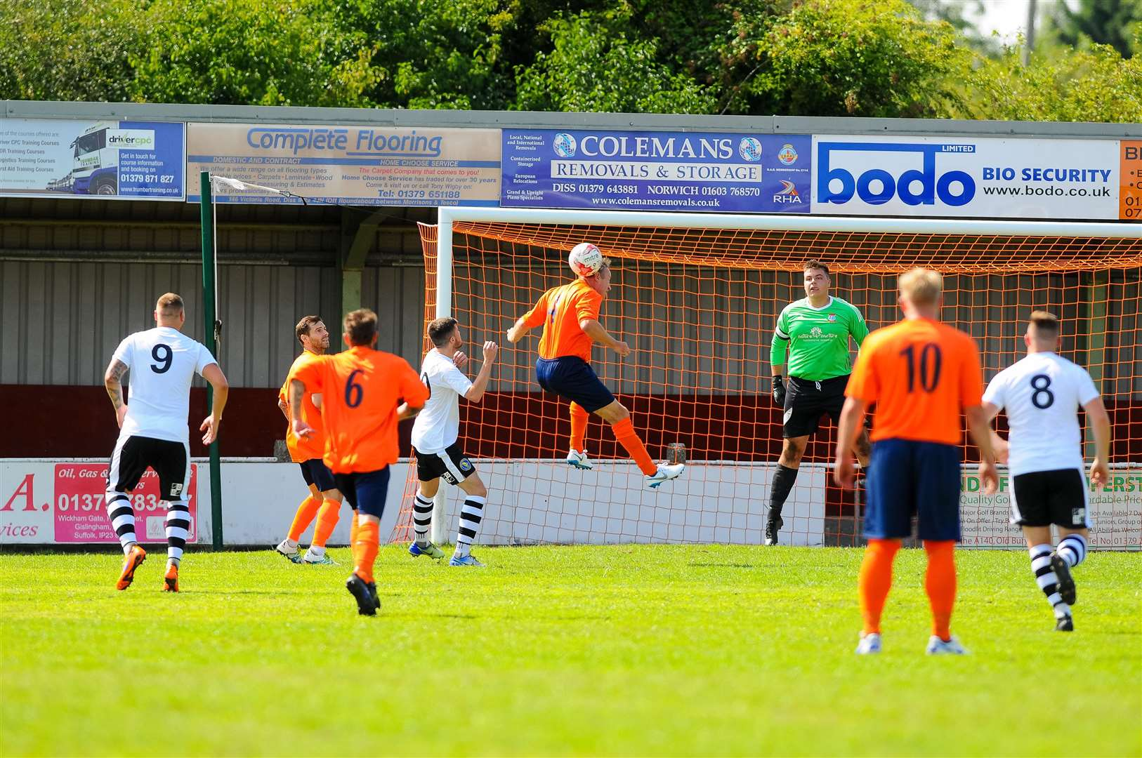 Diss, Norfolk, 11 August 2018..Football action from Diss Town FC v King's Lynn Reserves - Ricky Cornish..Picture by Mark Bullimore Photography. (6440763)