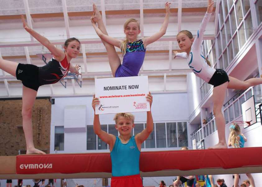 NOMINATE NOW! Gymnasts get the message out ahead of the nomination deadline closing