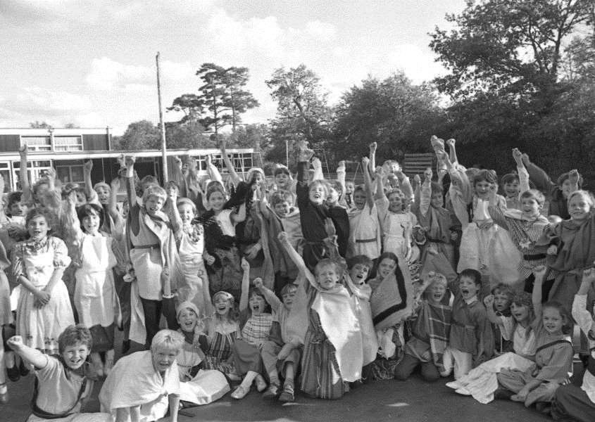 Nostalgia: Viking fancy dress day at Thurston Primary School in October 1987. ANL-161014-113611001