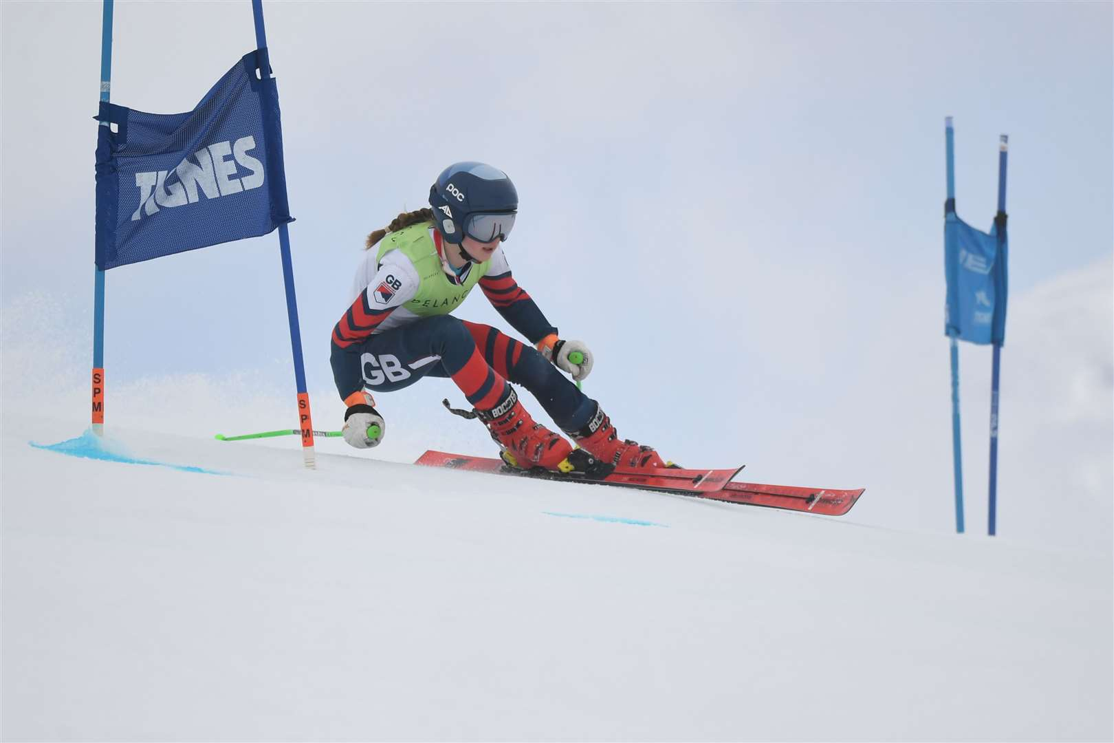 Honor Bartlett in action at the GB Alpine Championships in Tigne, France where she won the Under-14s Super GPicture: SportsBeat (8602559)