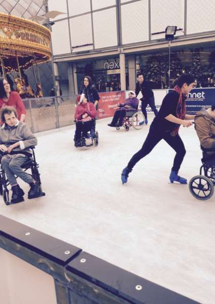 OurBuryStEdmunds facilitated the use of the rink for a group of disabled users from the Leading Lives group ANL-151218-125614001