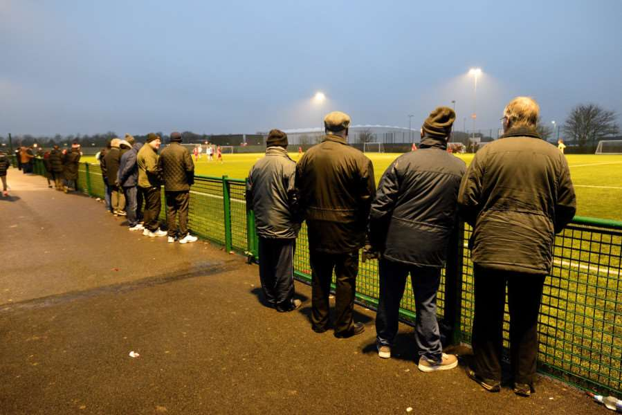 WATCHING ON: Rovers fans watch their side's latest loss, a 2-0 defeat to Godmanchester Rovers