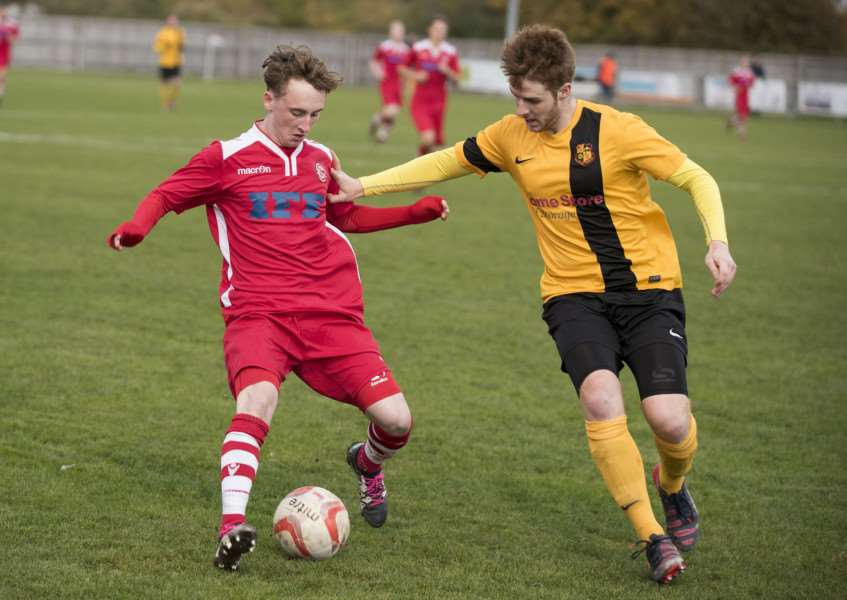 APPEAL PROCESS: Mason Newman (left) is at the centre of a dispute between Haverhill Rovers and the Thurlow Nunn League