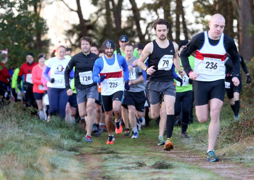 Runners enjoy the Festive Forest Challenge at West Stow Country Park. ANL-151128-191121009