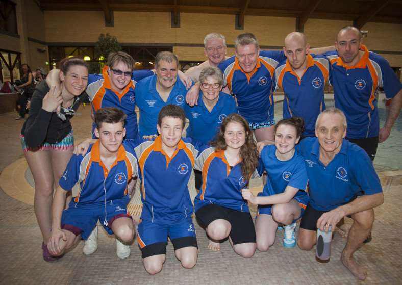 TEAM STORMS: Swimmers who competed in Sudbury's annual Valentine's meet