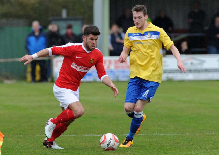 STAYING ON: Gareth Simpson is eager to turn out for Mildenhall in the Ryman League