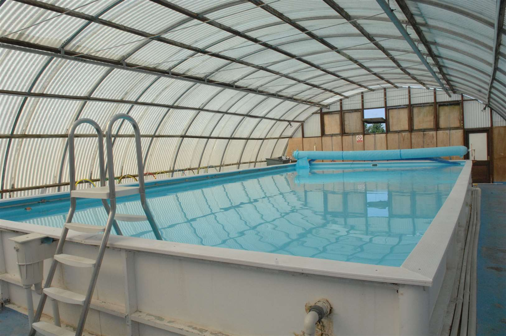 An indoor pool would have been the height of luxury...heated water unheard of