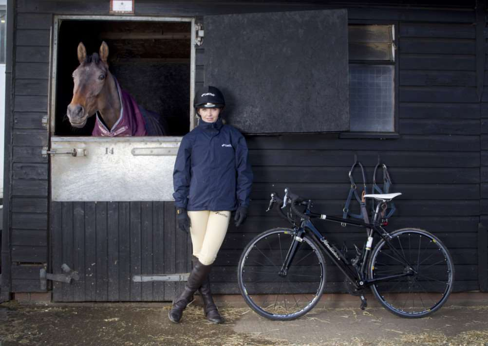 SWITCHING SADDLES: Retired cyclist Victoria Pendleton is attempting to turn her love of horses into a career