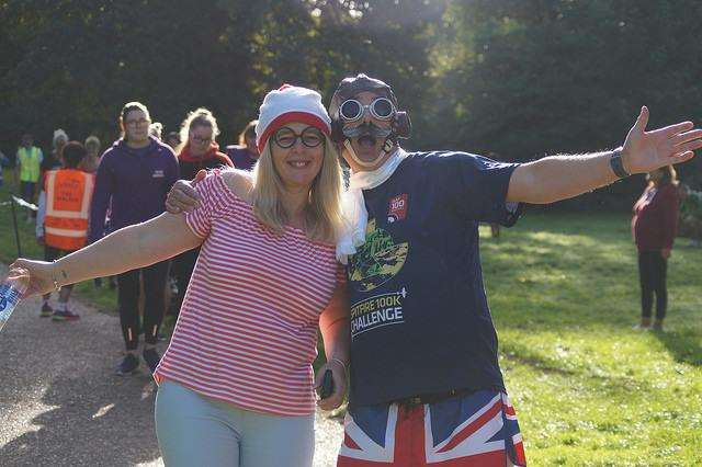 People put on their best running gear and fancy dress to celebrate the 300th celebration