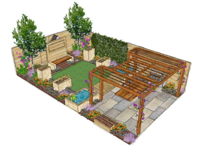 An image showing how the garden should appear.