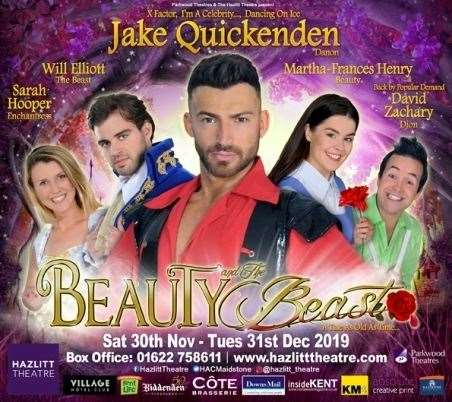 Beauty and the Beast, starring Jake Quickenden, is the Hazlitt Theatre's Christmas panto this year (35433067)