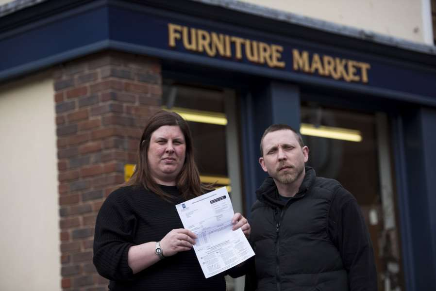 Lindsey Foreman and Dominic Everitt, of the Furniture Market in Brentgovel Street, Bury