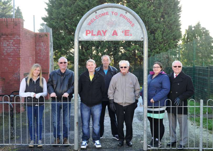 The priors estate action group are working with St Edmundsbury Council to refurbish the old play area on the Priors estate''Pictured: The Priors Estate Action Group ANL-141230-131131009