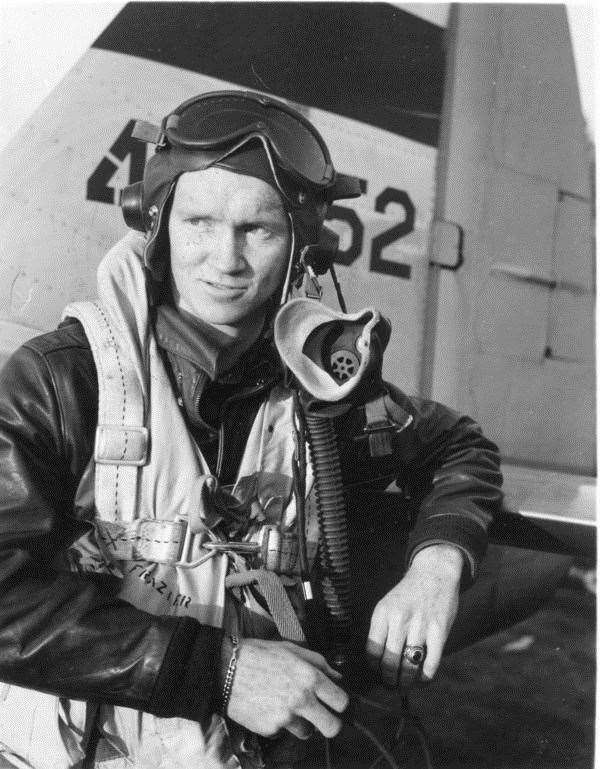 John Frazier, the only US Air Force casualty in the Kedington WWII crashes. He was piloting a Thunderbolt that come down after a training accident on April 1, 1945. Contributed picture
