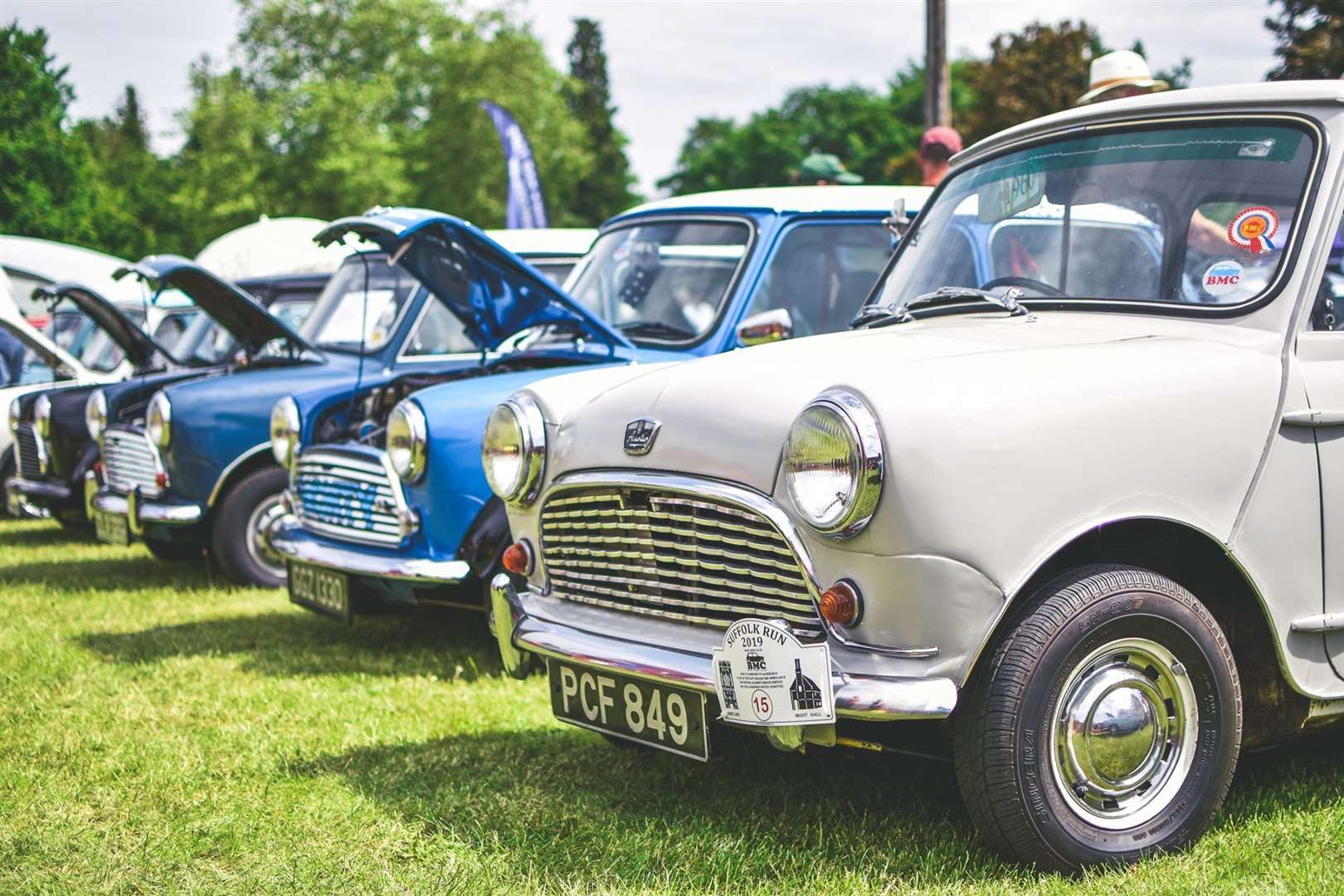 Minis at a previous Bury Abbey Rotary classic car show.