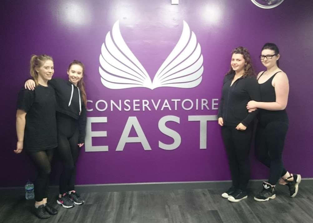 Some of the dancers at West Suffolk College's performing arts school Conservatoire EAST