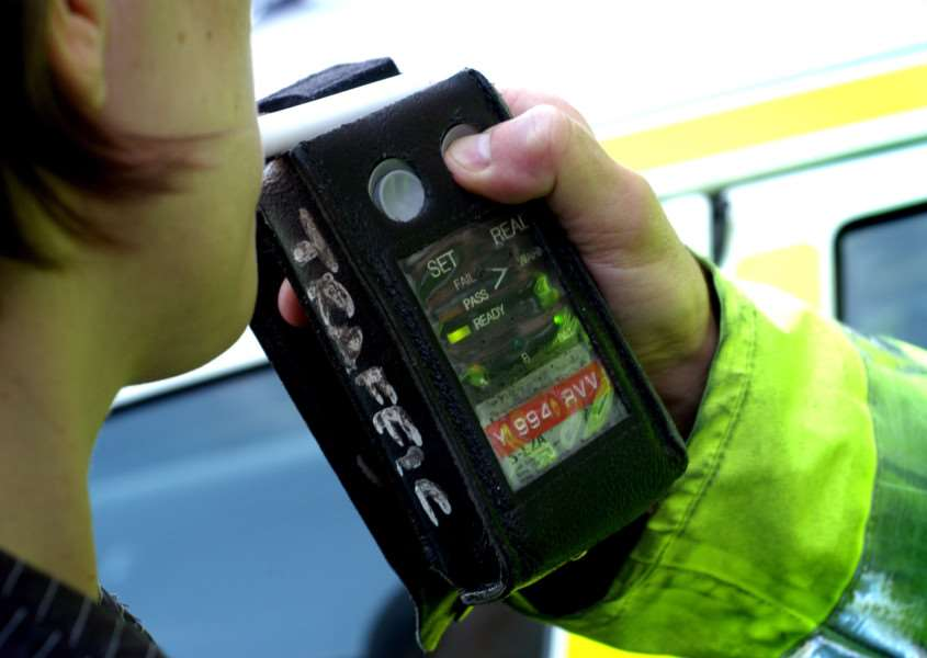 An example of the breathalysers police will use during this month's drink-drive campaign. ENGSUS00120121220110146