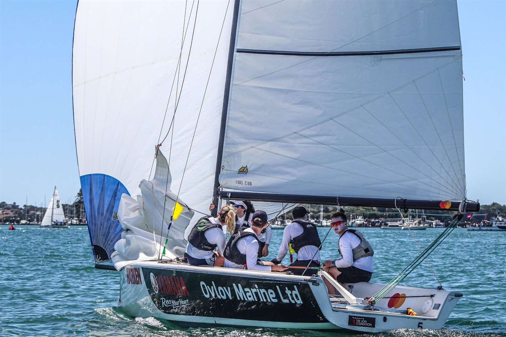Patrick Bray and his Absolute match racing team in action in New ZealandPicture: Andrew Delves (33492011)