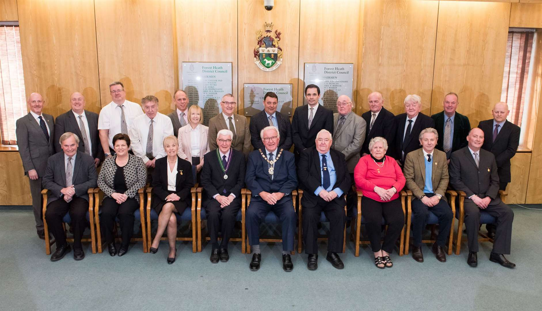 Forest Heath District Council's end of term photo