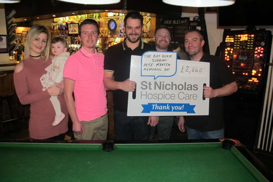 The Pete Martin Memorial Pool Day raised �2,640 for St Nicholas Hospice Care.