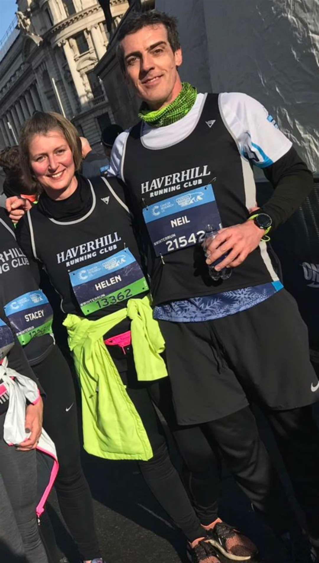 Neil Mustoe and Helen George representing Haverhill Running Club at a race. Submitted picture